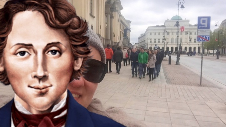 in centro di Varsavia con Chopin