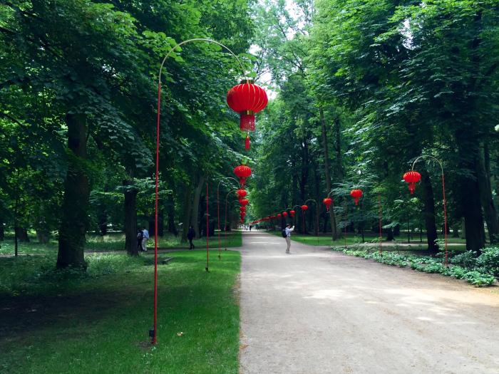Giardino cinese a Łazienki