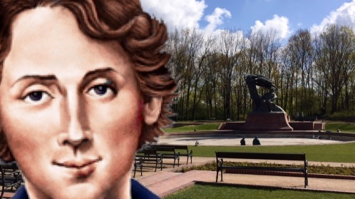 Selfie with Chopin al monumento