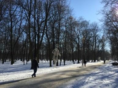 Parco Łazienki a gennaio 2017