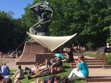 domenica d'estate al parco Łazienki