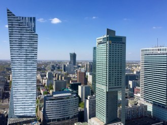 Il centro moderno di Varsavia