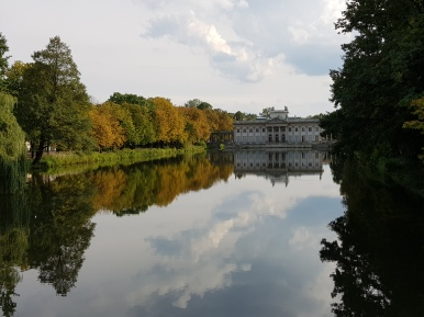 Parco Łazienki in autunno