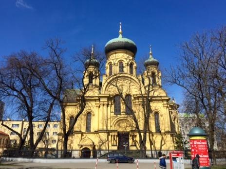 La cattedrale ortodossa a Praga